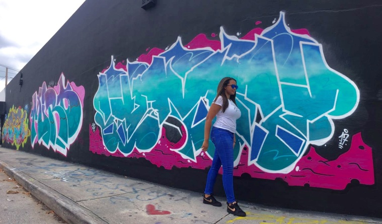 Graffiti in Wynwood Nike Street Style on Keri Elaine