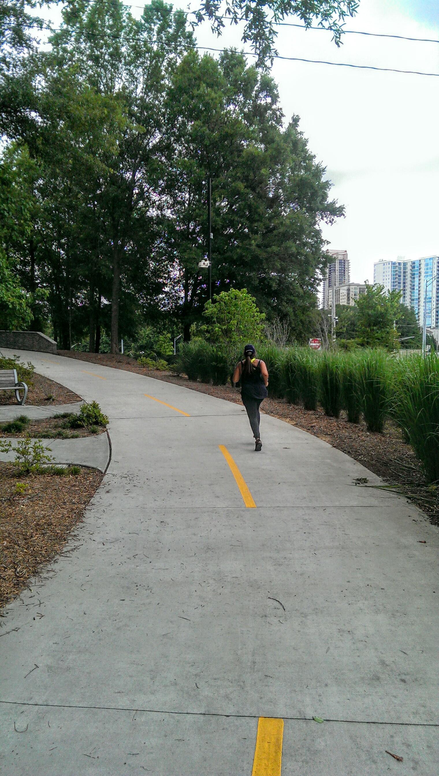 Buckhead Atlanta, jogging trail and Nikes
