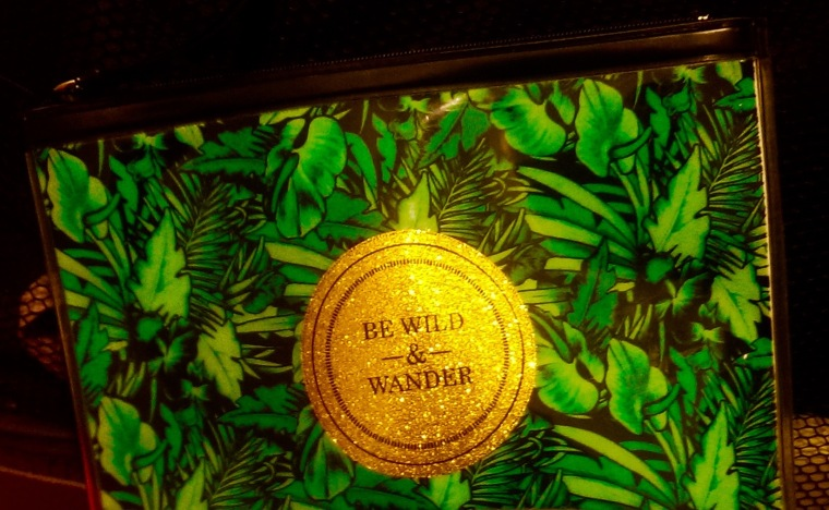 Be Wild & Wander palm leaf make up bag