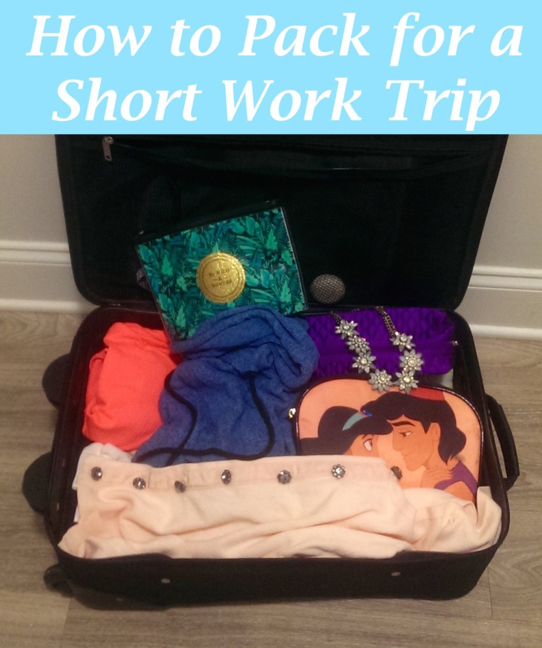 How to Pack for a short work trip GHD, H&M, Aladdin