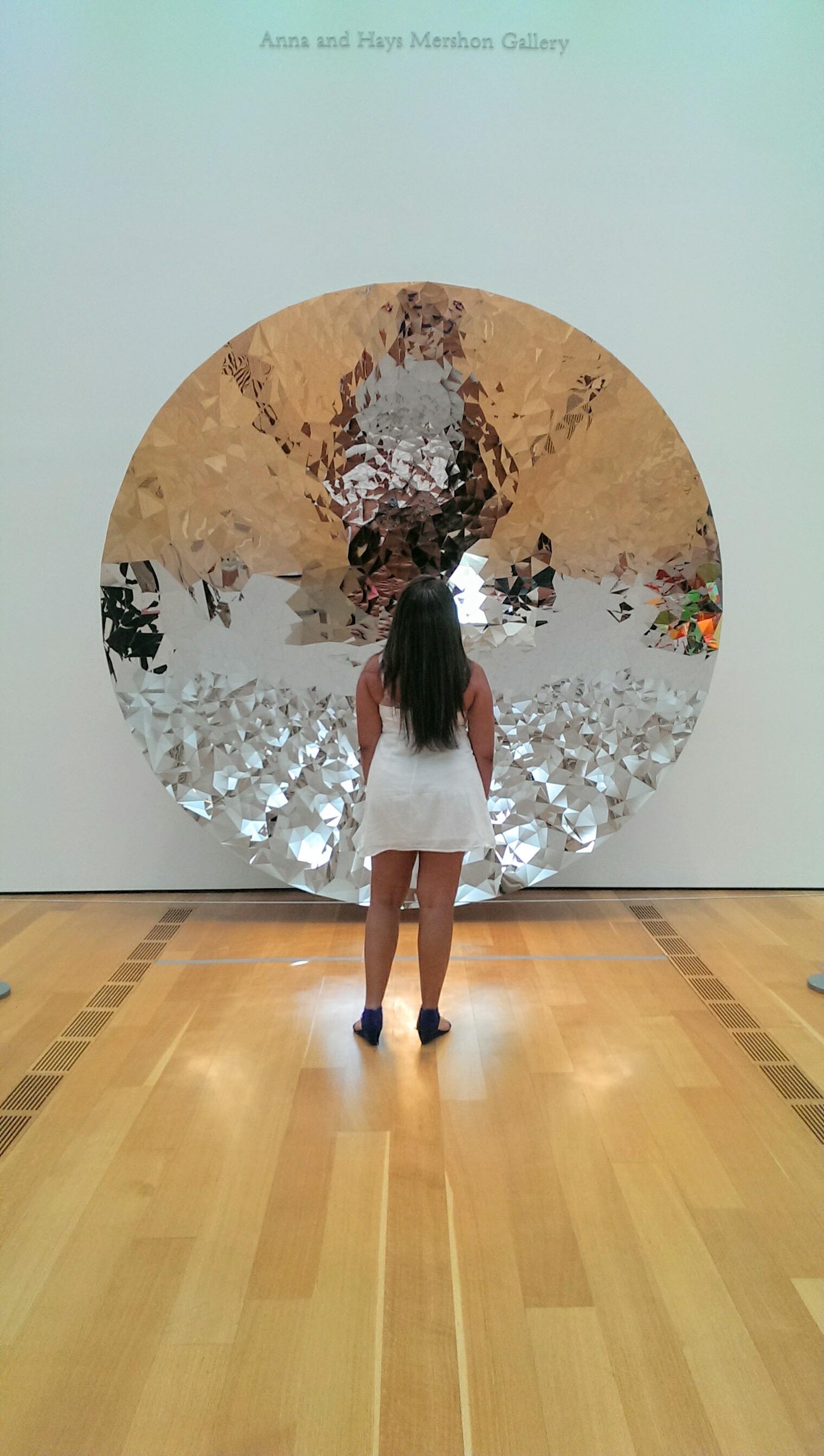 High Museum of Art Anna Hays Mershon Gallery, mirrored disk