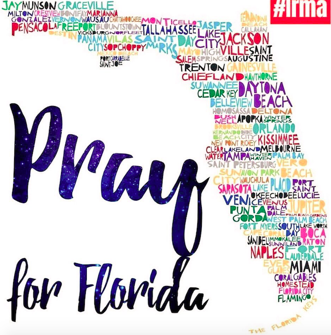 Pray for Florida #Irma Palm Beach, Miami, Coral Gables, Gainesville