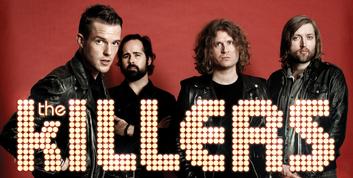 The Killers red background