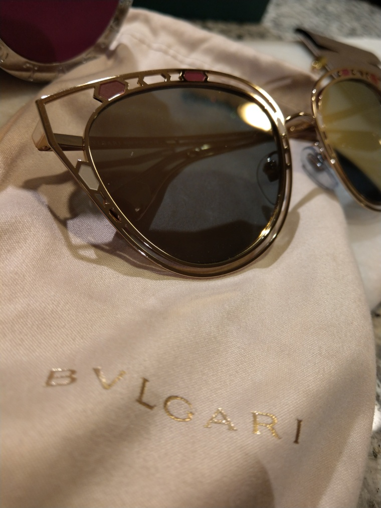 Blvgari sunglasses spring 2018 collection, snake and cat eye shape
