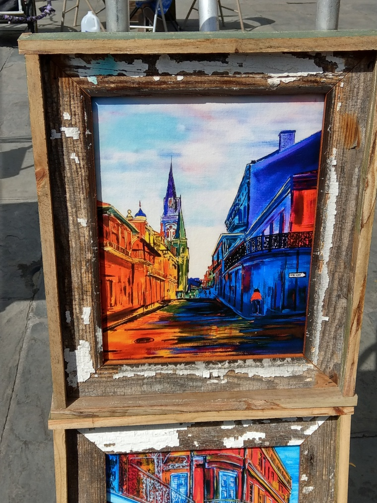 Beautiful art work in the French Quarter of New Orleans, LA