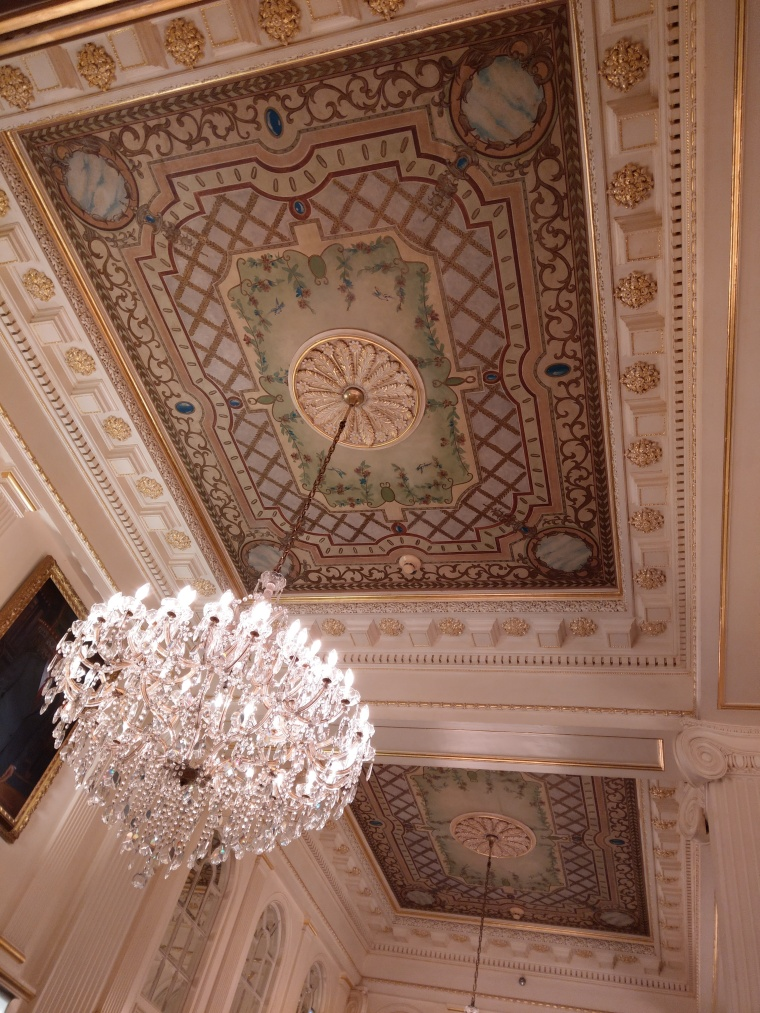 The stunning ceilings in the Hotel Monteleone