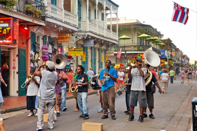 Jazz band in the French Quarter on New Orleans