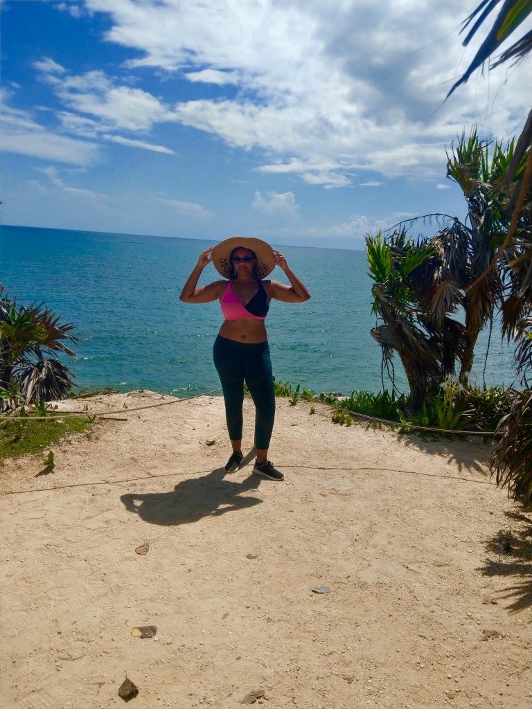Ocean view clear seas Tulum. Keri Elaine black bloggers babe!