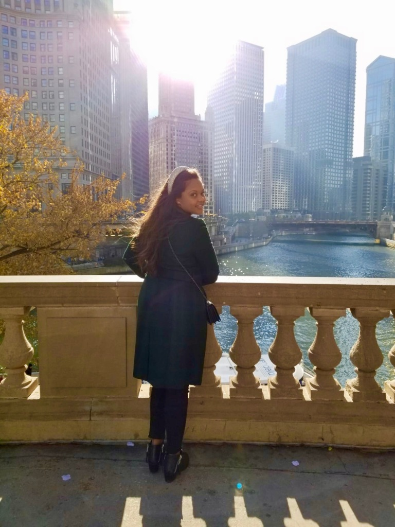 Chicago, princess, black beauty, ted baker emerald green coat, black booties, fall in Chicago