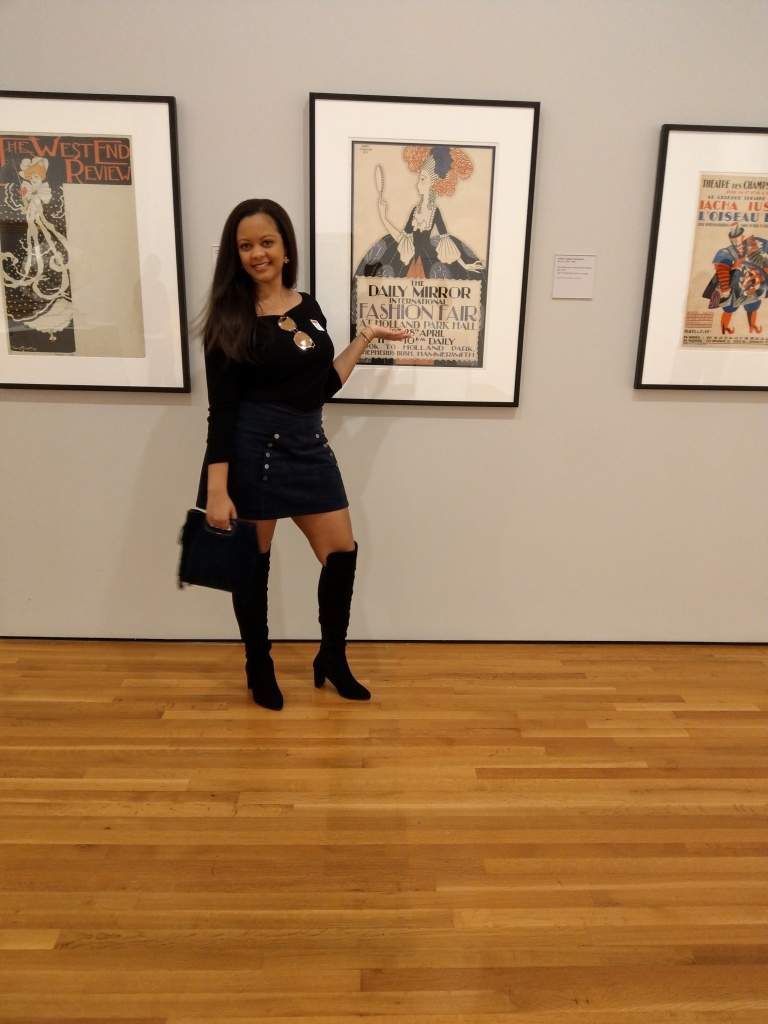 Thigh high boots, movement, beautiful black woman, blvgari sunglasses, High Museum of art.